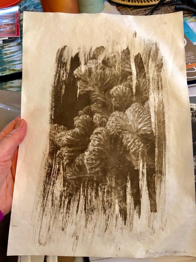 Dry mitsumata paper